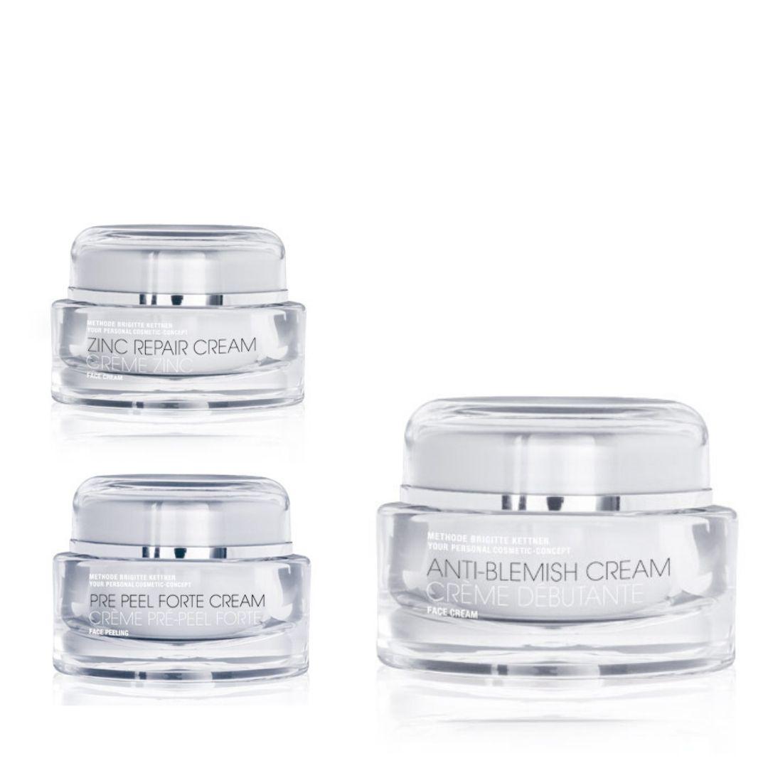 Trio de soins peau acnéique