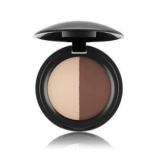 Eyeshadow Duo - Matte Effect, Ivory & Dark Brown